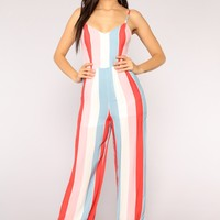 Korie Jumpsuit - White Multi