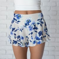 Sorbet Floral Ruffle Shorts