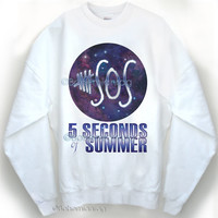 NEW 5SOS Seconds of Summer Galaxy Sweatshirt Original design by Bohemianrag