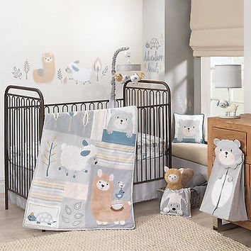 Lambs Ivy Happi by Dena Little Llama 5 PC Baby Nursery Crib Bedding Set w Bumper
