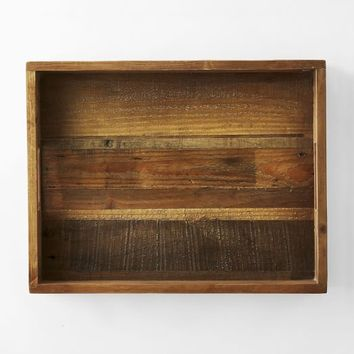 "Reclaimed Wood Tray, Natural, 14""x18"""