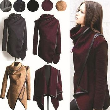 Hot Sale Spring Long Colored Trench Coat Women Cashmere Overcoat Full Size Women Coats