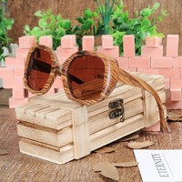 BOBO BIRD Handmade Oversized Wood Sunglasses