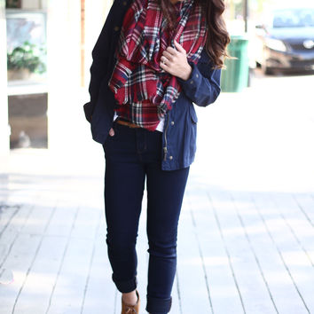 The Red Blanket Scarf