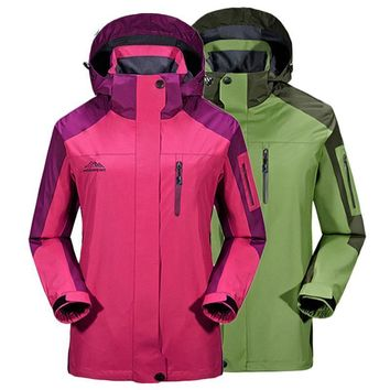 Men Women Waterproof Jacket Outdoor Trekking Rain Coats Mountain Climbing Sport Windbreaker Camping Hiking Jackets