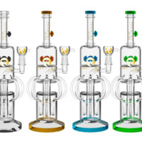"TSUNAMI PREMIUM ROCKTAPUS GLASS WATER PIPE (14"")"