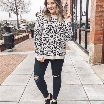 Spencer Leopard Print Sweater