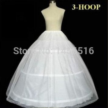 Plus Size In Stock 2014 Hot Sale 3 Hoop Ball Gown Bone Full Crinoline Petticoats For Wedding Dress Wedding Skirt Accessories Slip = 1932347972