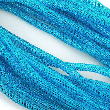 Solid Mesh Tubing Deco Flex Ribbon, 8mm, 10-yard