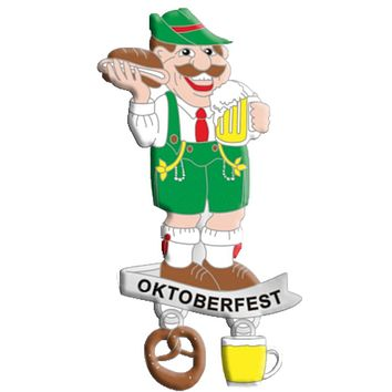 Oktoberfest Man Beer Mug Metal Hat Pins for German Hat