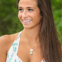 One Last Chance Necklace-Seafoam