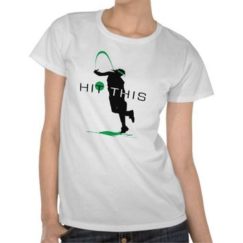 Hit This Green Pitcher Softball T-Shirt from Zazzle.com