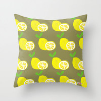Lemons Decorative throw pillow cover - Yellow pillow cover - Modern pillow cover