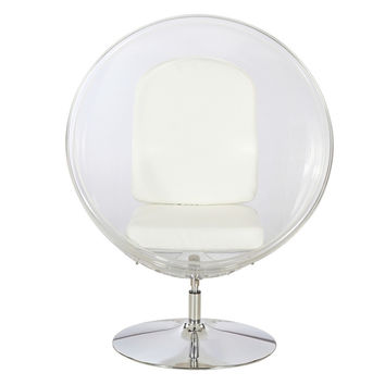 Vintage Eero Aarnio Style Lucite Ball Pod Chair