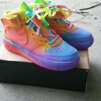 The Rainbowz Custom Nike Air Force Ones from TheLittleFoot on 1d4f63490