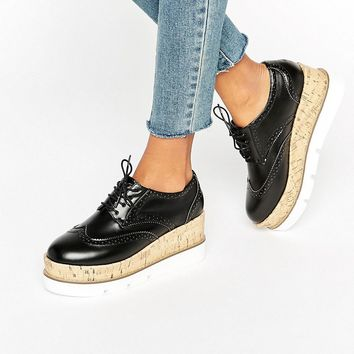 ASOS OLIVE Lace Up Flatforms