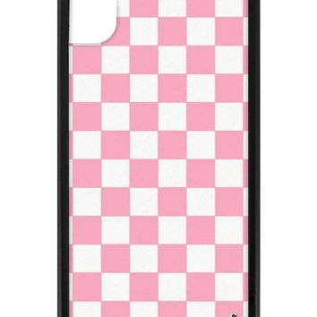 Pink Checkers iPhone Xr Case