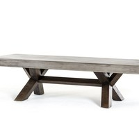 Metro Rustic Reclaimed Wood and Concrete Coffee Table