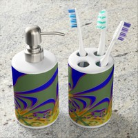 Magic Yellow Blue Green Ornament Bath Set