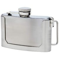 Secret Flask Belt Buckle - 3 oz. stainless steel - airplane safe