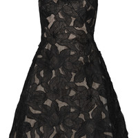 Marchesa Notte - Floral-embroidered organza dress