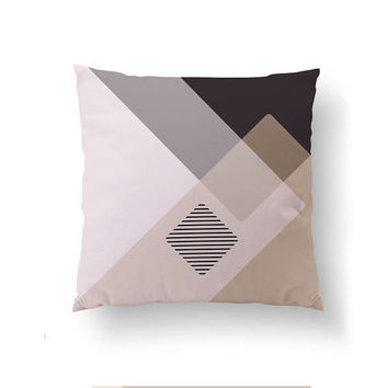 Brown Gray Pillow, Throw Pillow, Subdued Textures, Cushion Cover, Minimal Art, Decorative Pillow, Simple Design, Home Decor, Abstract Design