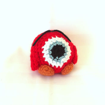 """Crochet """"Monster"""" Plushie - Video Game Character Doll - Gamer Amigurumi Toy - Adult Geeky Toy"""