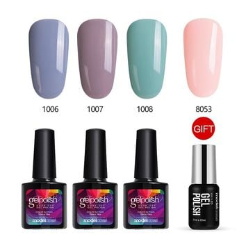 Gray Color Series Gel Polish Soak Off UV Nail Polish Kits Semi Permanent Nail Varnish Set