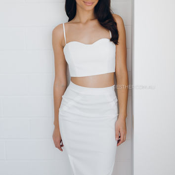 annabelle two piece - white