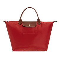 Longchamp Pliages Red Rouge Medium Tote Bag Purse