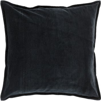 Cotton Velvet Throw Pillow Black