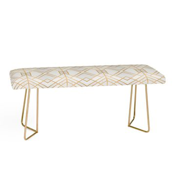 GOLDEN GEO Bench by Elisabeth Fredriksson