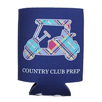 Madras Golf Cart Can Holder in Navy by Country Club Prep