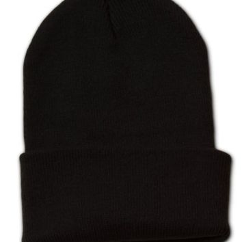 New Solid Winter Long Beanie