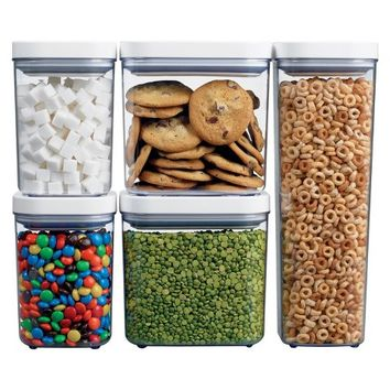 OXO 5 pc Food Storage Canister Set - Clear