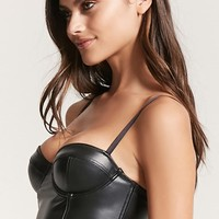 Faux Leather Bustier