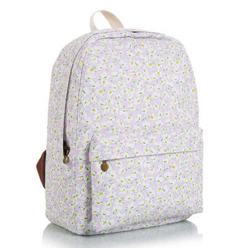 Korean Canvas Cute Lovely Backpack = 4887978500