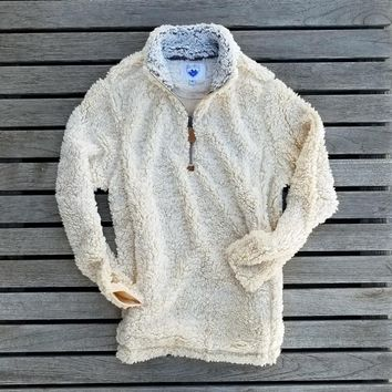 The Victoria Sherpa Pullover in Tan by Nordic Fleece
