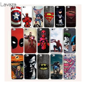 Deadpool Dead pool Taco Lavaza 23af  and  batman hero  Hard Case for iPhone X S R XR XS Max 7 8 6s 6 Plus 5 5s 5c SE 4 4S Cover AT_70_6