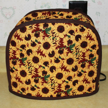2-Slice Toaster Cover - Appliance Cover - Small Toaster Cover - Kitchen Accessory Cover - Sunflowers -Cozy
