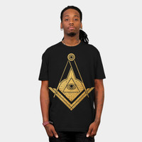 Golden Masonic Symbol All Seeing Eye T Shirt By Ppanda Design By Humans