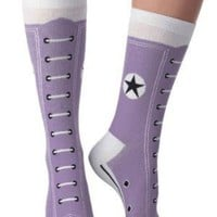 Hi-Top Socks in Purple | Mod Retro Vintage Socks | ModCloth.com