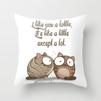 Lottle Love Creative Cats Throw Pillow by Lottle