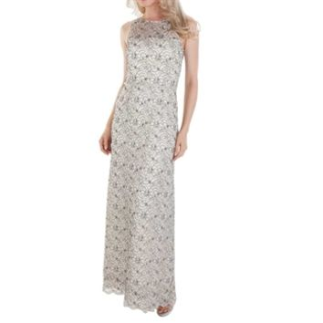 Tahari Halina Illusion Lace Gown at Von Maur