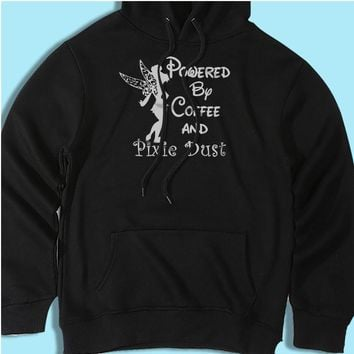 Disney Powered By Coffee And Pixie Dust Tinkerbell Men'S Hoodie