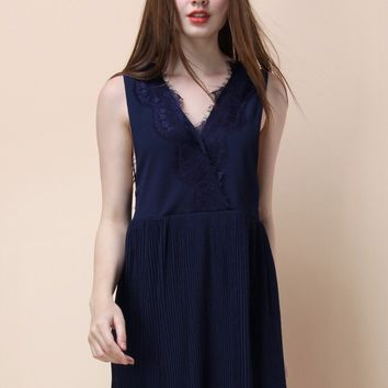 Smize for the Day Dress in Navy