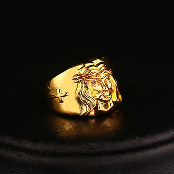 8 Europe United States Hip-Hop Ring Popular logo Hipster Necessary High Quality 24 k Gold/color Preserving Persistent Ring