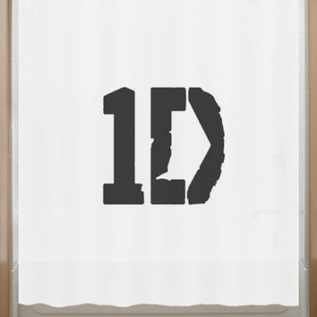 One Direction Shower Curtain 1D music band singers group bathroom decor bath kids