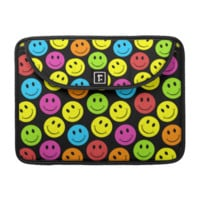 Happy Colorful Smiley Faces Pattern MacBook Pro Sleeve