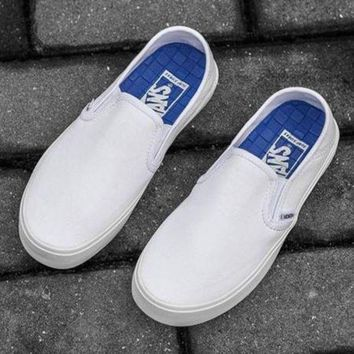 CREYONS Vans Slip-On Classic Canvas Flats Sneakers Sport Shoes